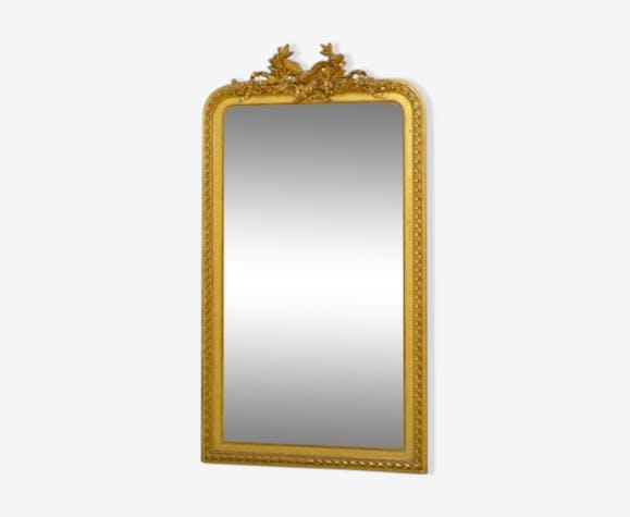 Grand miroir doré français du XIXème siècle