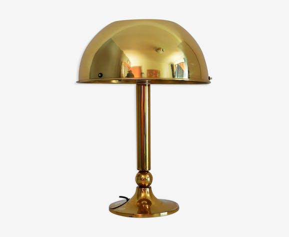 Lampe de table en laiton allemand Florian Schulz, 1970