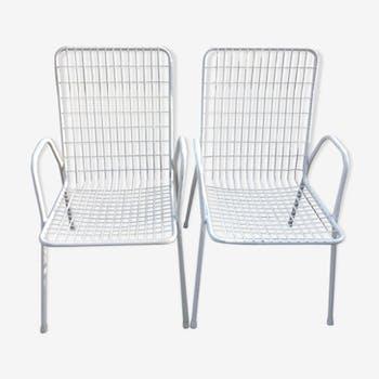 Pair of garden armchairs