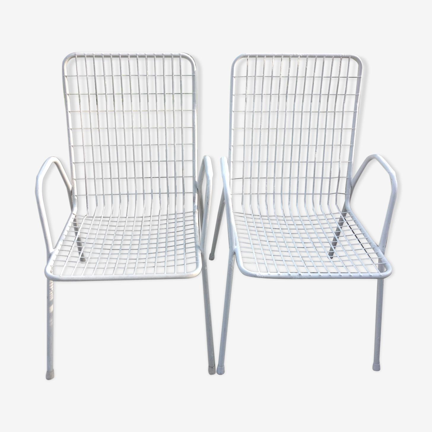 Paire de fauteuils de jardin