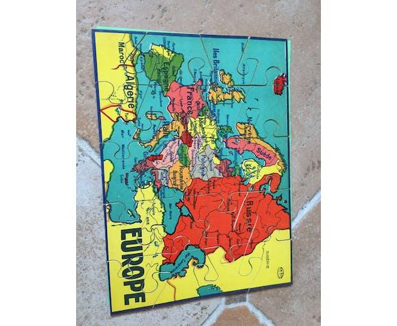 Ancien jeu de six puzzles éducatifs intitulé Jeu de Patience