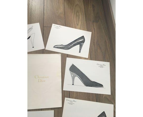 Christian Dior - Pierre Balmain: batch of 10 fashion sketches