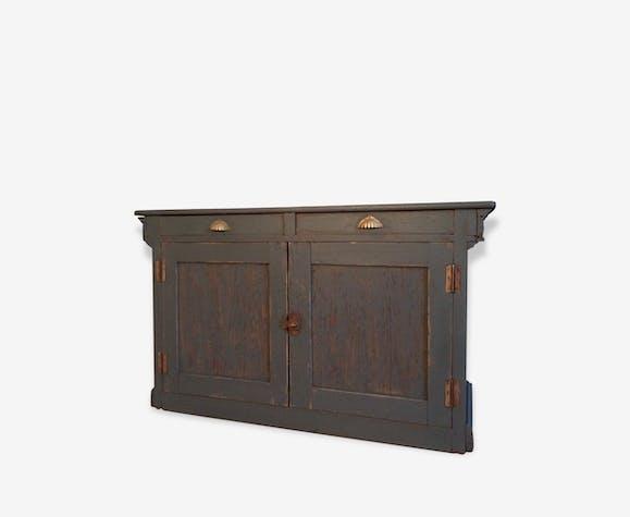 meuble buffet ou comptoir ancien repeint en gris. Black Bedroom Furniture Sets. Home Design Ideas