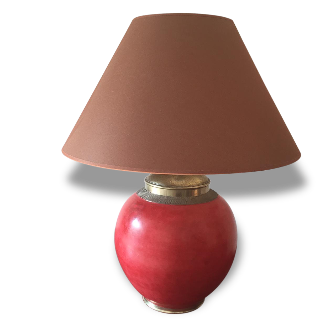 Lampe En Tadelakt Marocaine Rouge / Marron