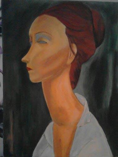 Acrylic table on cotton canvas 46 x 38 cm