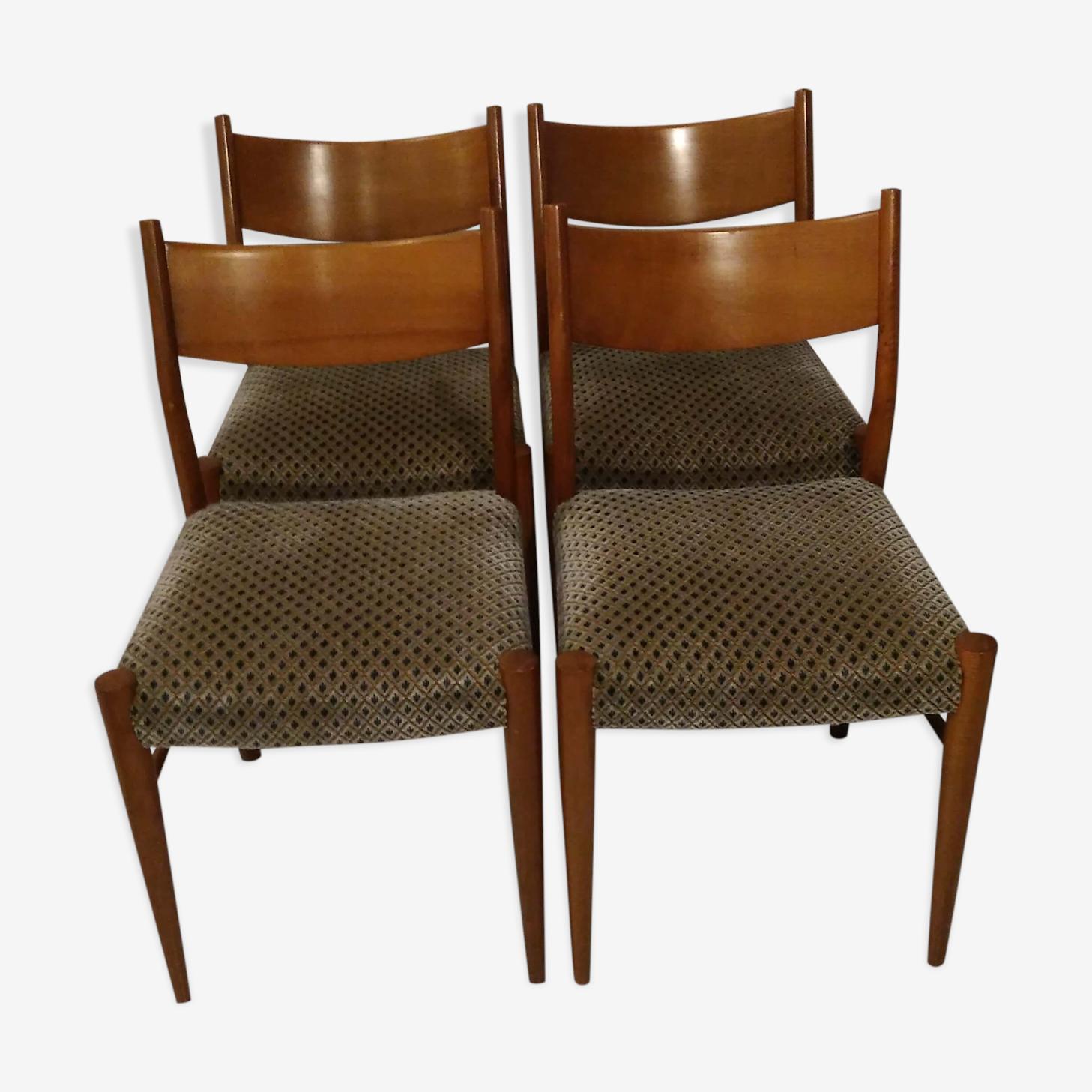 Chaises style scandinave années 60