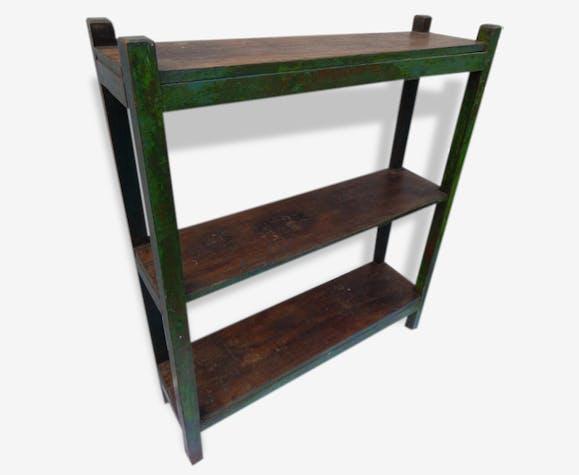 ancien meuble indien etagere bibliotheque teck piece originale inde