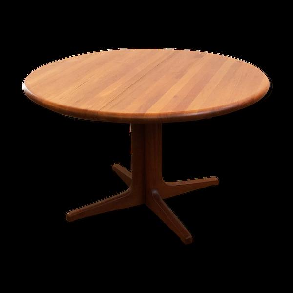 Table danoise en teck extensible, années 1960