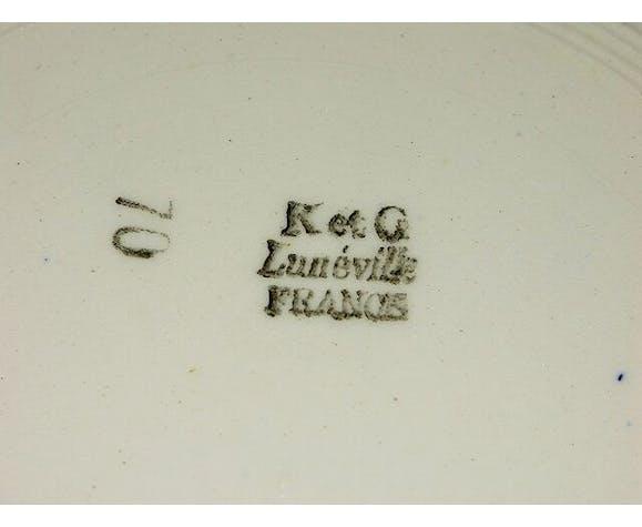 6 flat plates K. G Lunéville France