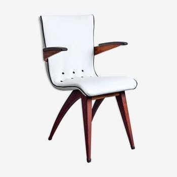 Chaise à accoudoir du designer GJ van Os Culemborg 1950