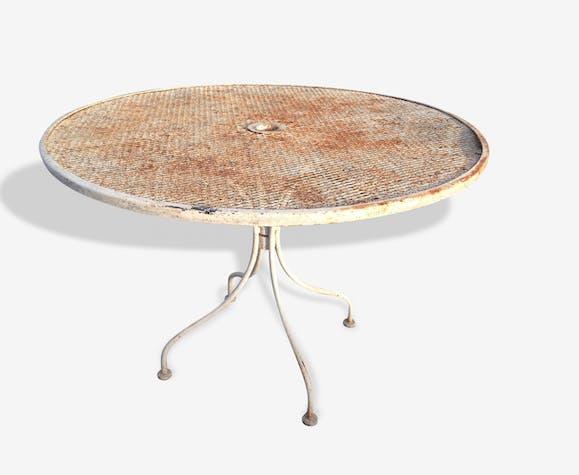 Table de jardin vintage - metal - white - classic - 13626