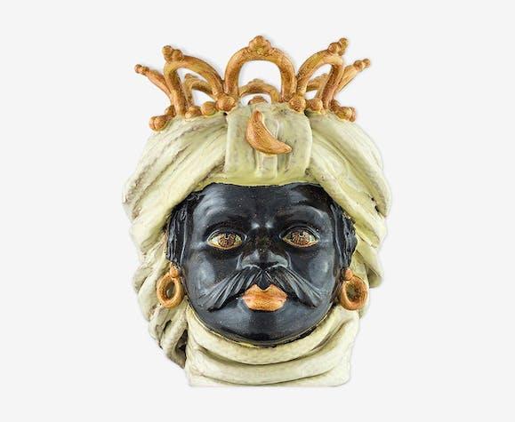 Vase couronne beige homme