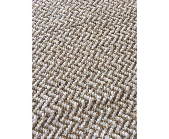 Tapis tissé chanvre et laine 112x139cm