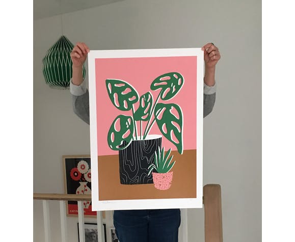 'Wood Two' by HelloMarine - Limited Edition artist proof serigraph