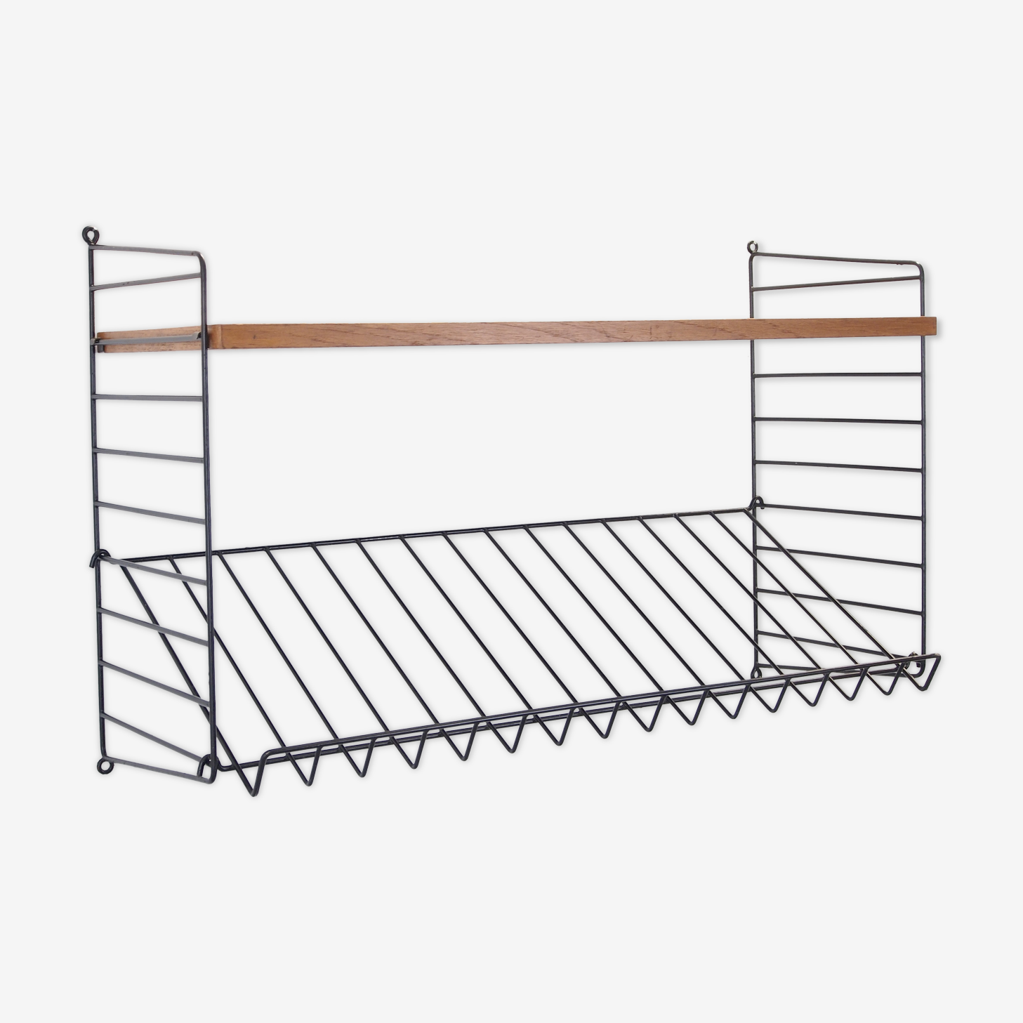Vintage magazine rack/wall unit by nisse string