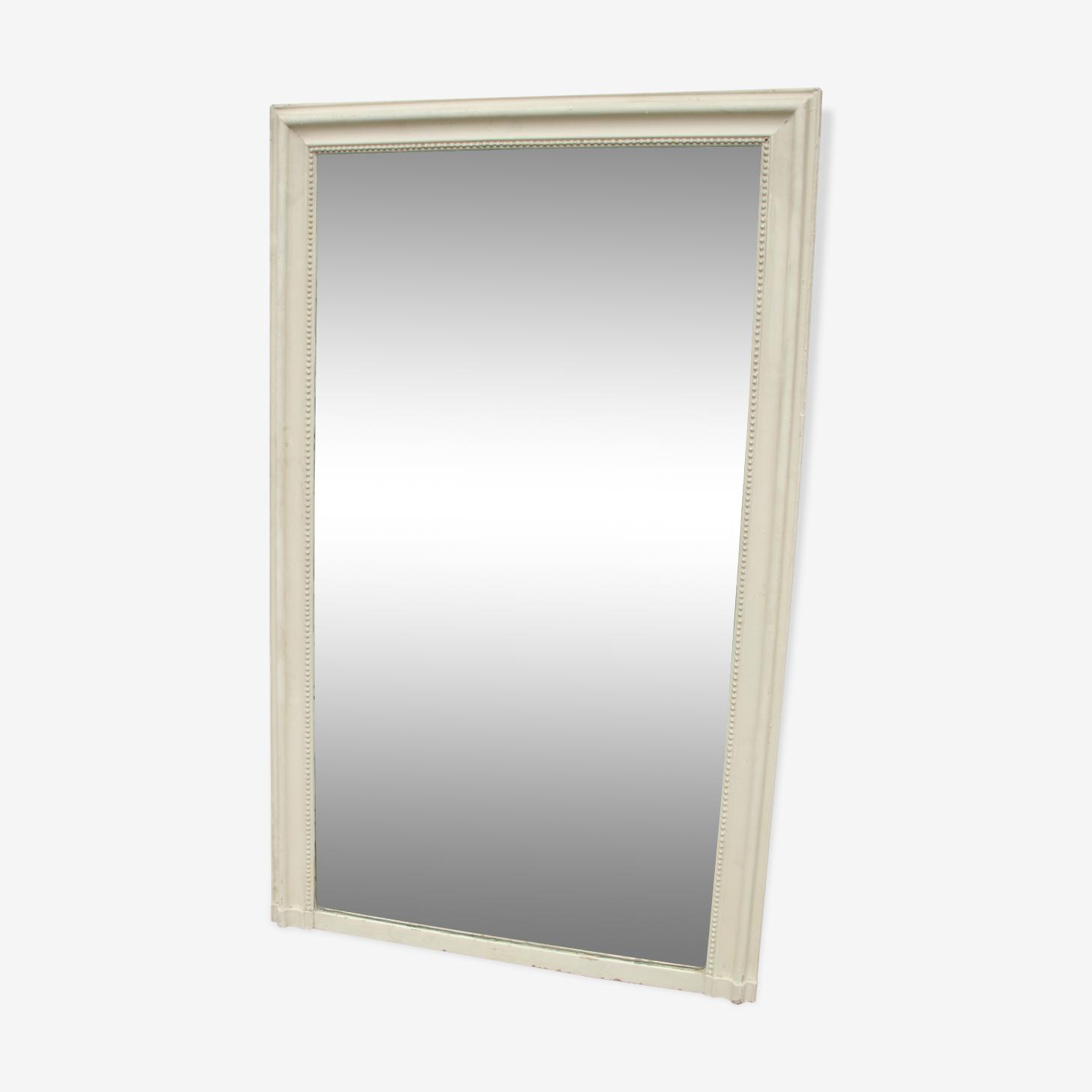 Miroir classique en bois patiné 1900 taille 162x98cm