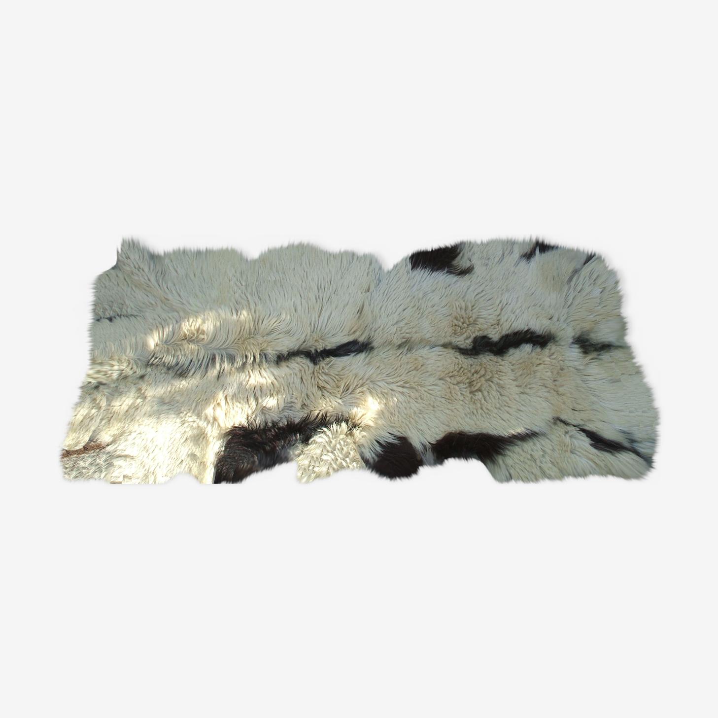Tapis Peau De Chevre Peau Blanc Vintage Xuhar3c