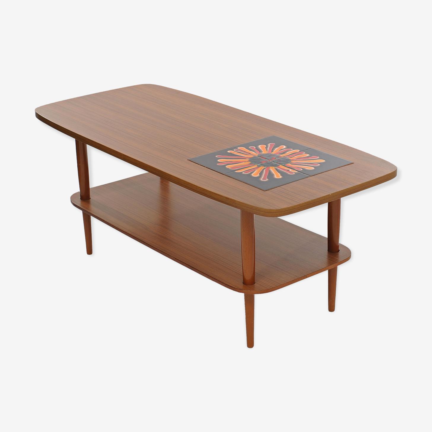 Table basse teck années 70