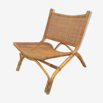 Vintage rattan armchair 70
