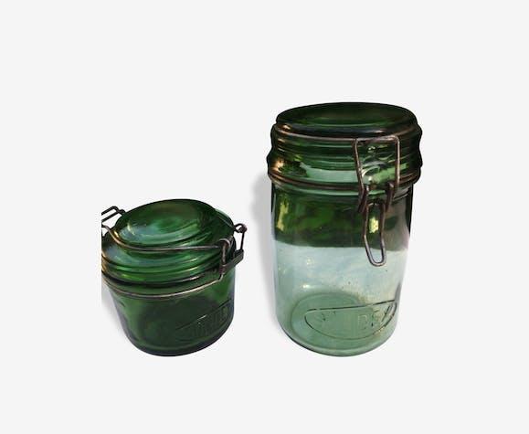 dbf15fb54c Bocaux Solidex - verre et cristal - vert - vintage - 18848