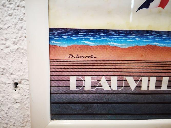 Affiche ancienne festival du cinéma américain Deauville - 1986 ph. Bonnard