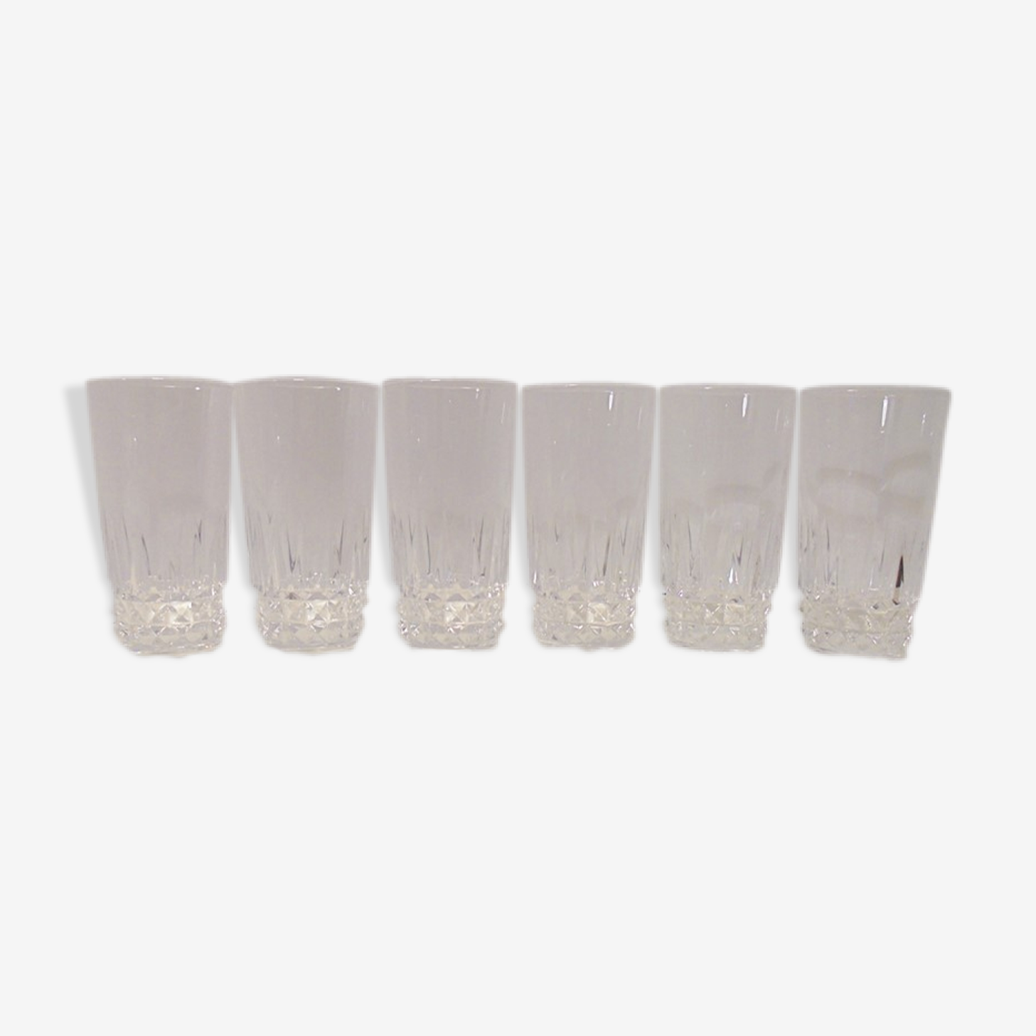 Service of 6 Crystal glasses