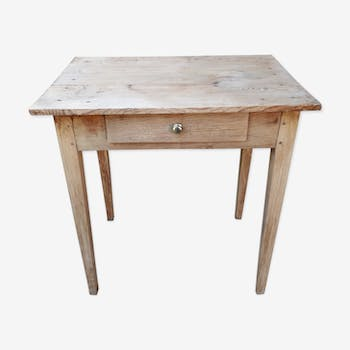 Small table in fir tree