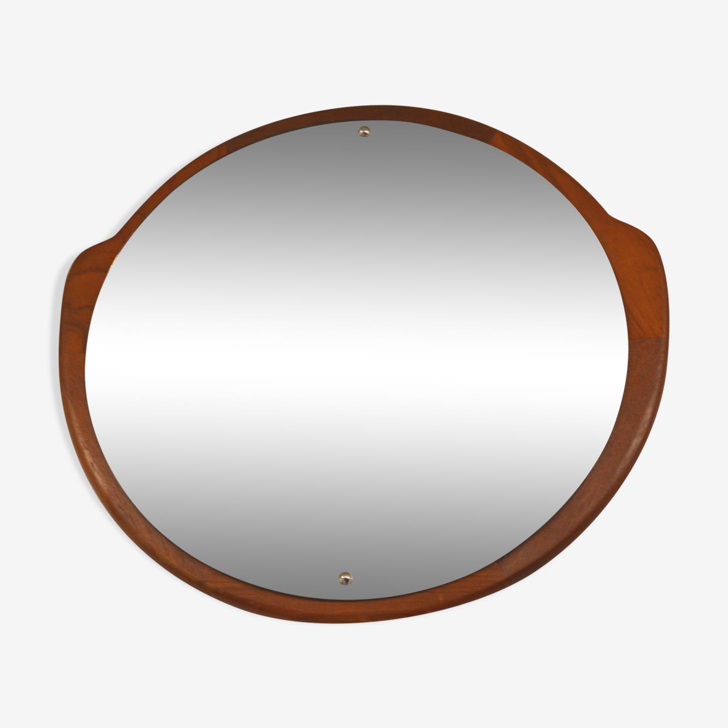 Scandinavian teak mirror