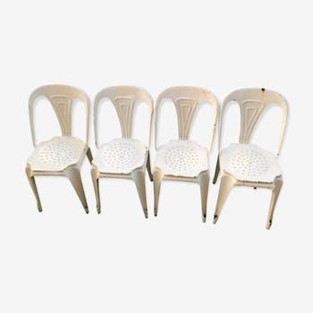 """Ensemble de 4 chaises """"mutipl's"""""""