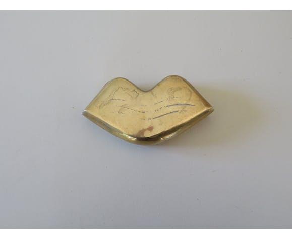 Boîte vintage en laiton