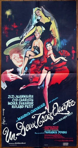 "Original movie poster ""one two three four"" - size 40 x 80 cm"
