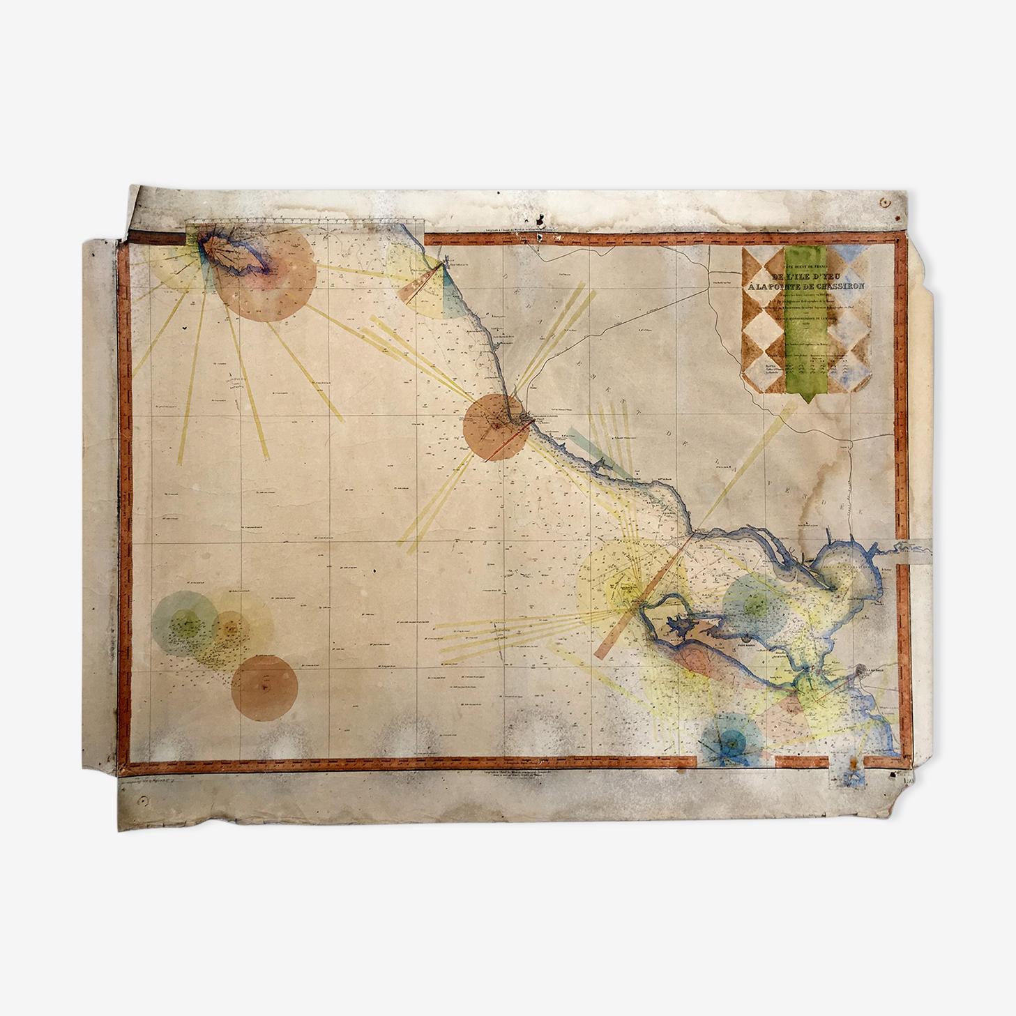 Carte Marine de la Vendée de 1927