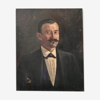 Painting portrait of man