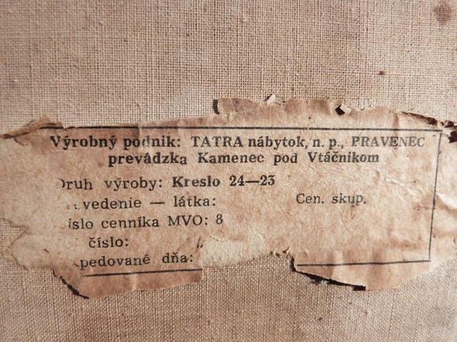 Fauteuils 24-23 en bois courbé de Tatra Nábytok 1950s