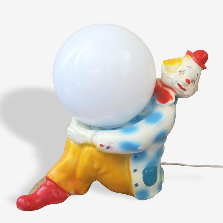 Lampe clown au ballon années 1970