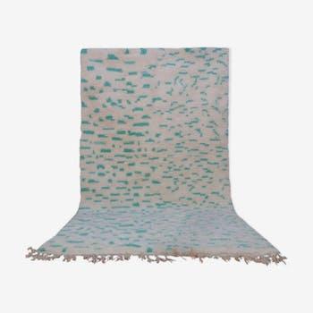 Tapis beni ourain vintage marocain 260 x 152 cm