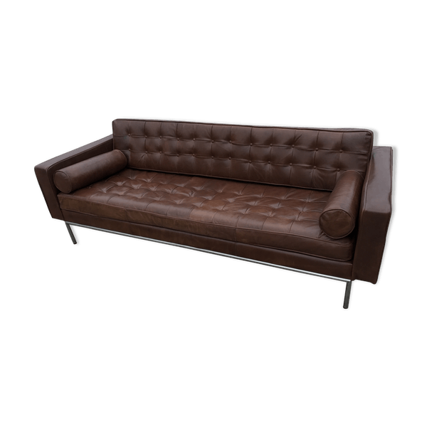 canap danois en cuir marron ann es 1980 cuir marron design 0ogness. Black Bedroom Furniture Sets. Home Design Ideas