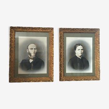 Couple portraits photos anciens
