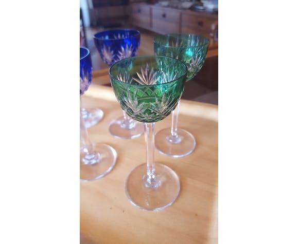 6 verres à liqueur ancien cristal Saint Louis