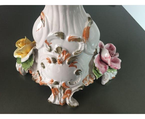 Bougeoir vintage en porcelaine
