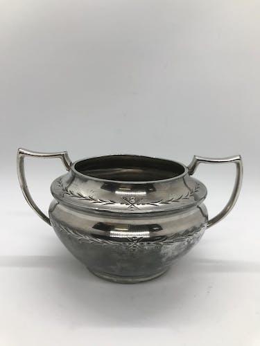 Sucrier anglais en métal argenté