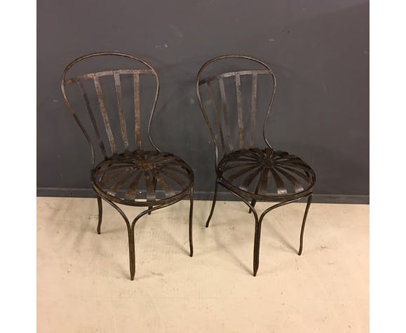 Paire de 2 chaises de jardin vintage | Selency