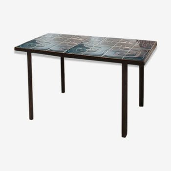 table basse c ramique vintage 70 c ramique porcelaine. Black Bedroom Furniture Sets. Home Design Ideas