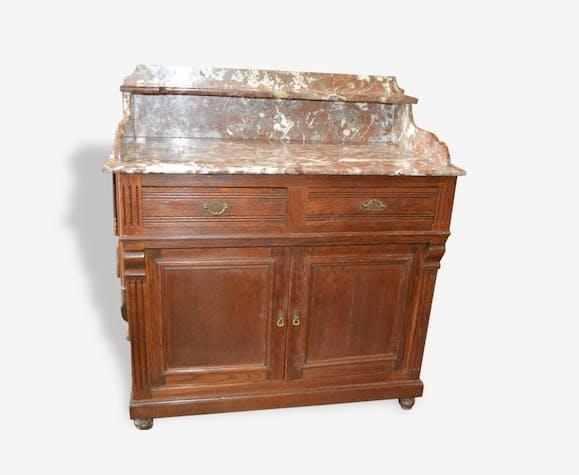 coiffeuse en ch ne avec dessus en marbre meuble de toilette bois mat riau classique 118368. Black Bedroom Furniture Sets. Home Design Ideas