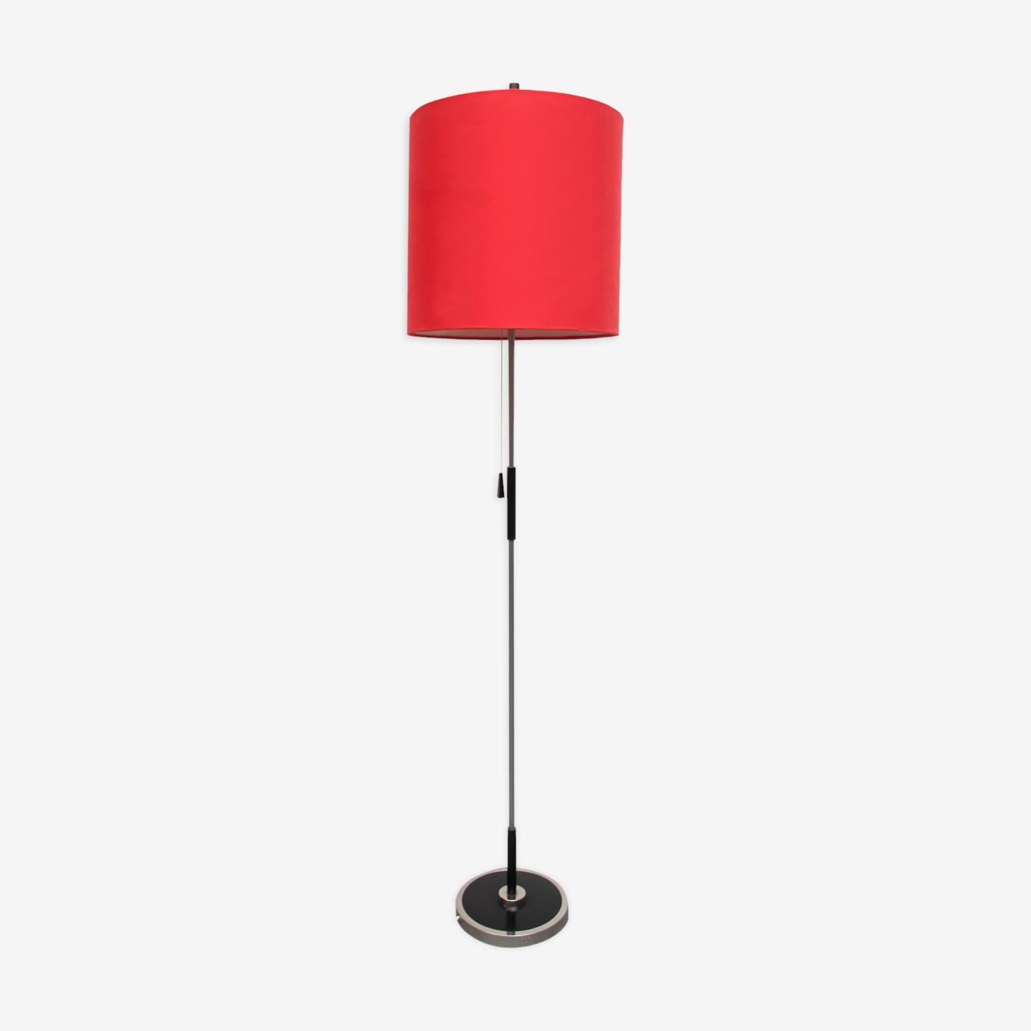 Lampadaire des années 1960 rouge