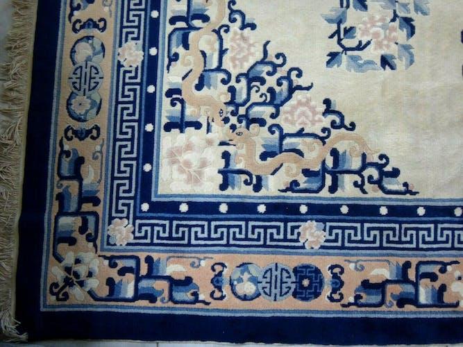 Tapis chinois laine 290x202cm 1940