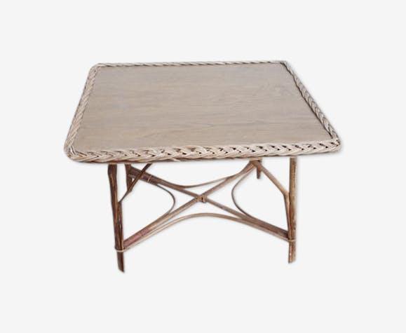 Table basse osier