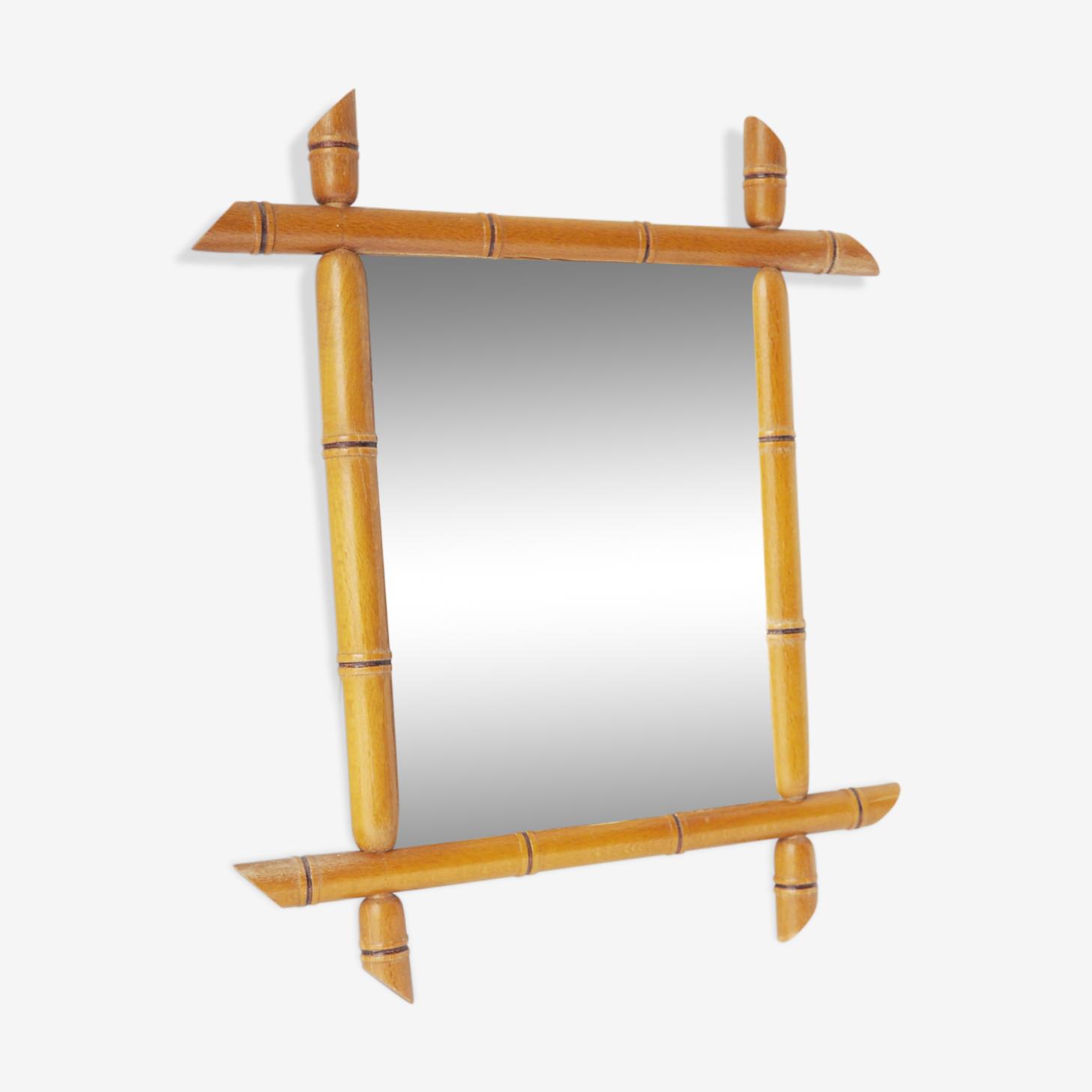 Miroir bambou 36x31cm