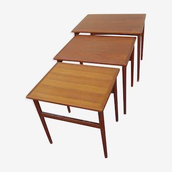 table gigogne teck scandinave vintage annes 50 60 - Table Gigogne Vintage