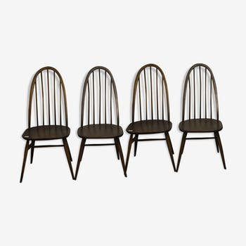 Series of 4 ercol chairs